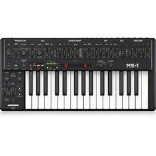 Behringer MS-1-BK Analog Synthesizer w/ 32 Full-Size Keys, USB & MIDI I/O, Black