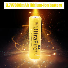 2X 18650 7800mAh Li-ion 3.7V Rechargeable Battery For Flashlight Torch RC Sweet