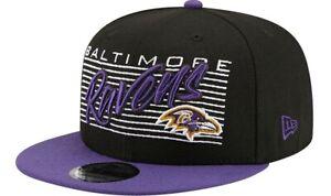 Baltimore Ravens Hat New Era 9Fifty 950 NFL Black Retro Snapback Adjustable Cap
