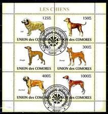 Chiens Comores (32) série complète de 6 timbres oblitérés