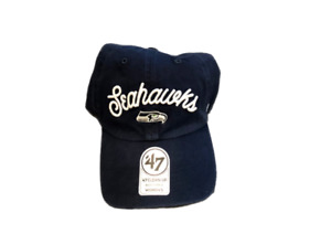NWT New Seattle Seahawks '47 Clean Up Logo Prep Women's Adjustable Hat