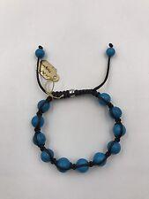 """Shamballa Beaded  Adjustable Bracelet Blue Turquoise 7"""" - 8.5"""" inches Long"""