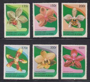 Benin   1997   Sc # 973-78   Orchids   MNH   (54123)
