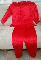 Traditional Kung Fu Tai Chi Wu Shu Martial Arts Uniform Acrylic Color Red