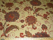 ~11 YDS~ASIAN FLORAL~PART CHENILLE~EMBROIDERED UPHOLSTERY FABRIC FOR LESS~