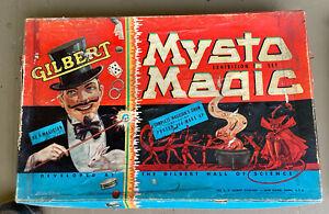 Vintage Gilbert Mysto Magic Exhibition Set, 1938 and Royal Wonder Box Magic Set