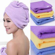 Toalla cabeza cómoda rápida y ligera material microfibra ideal cabellos largos