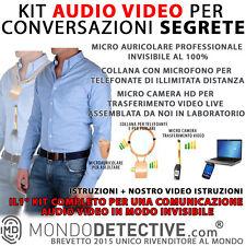 KIT COMUNICAZIONE AUDIO VIDEO INVISIBILE SPY SPIA GSM CAM TELECAMERA NASCOSTA