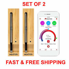 MEATER+165ft Long Range Smart Wireless Meat Thermometer Set of 2