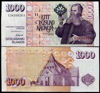 ICELAND 1000 1,000 KRONUR 2001 P 59 UNC
