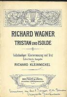 """Wagner - """" Tristan und Isolde """" , Klavierauszug mit Text ~ Gebunden alte Noten"""