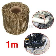 Titanium Exhaust Heat Header Wrap 1m 2'' Manifold Insulating Pipe Tape Downpipe