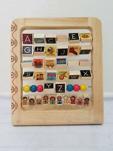B. AB3's Wooden Abacus Stand W/Alphabet & Numbers - 18mths-5yrs Educational