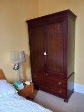 More details for antique mahogany wardrobe