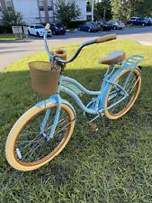 "Huffy 26"" Inch Women's Nel Lusso Cruiser Bike Blue Ships Now!"