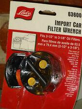 "Lisle 63600 Import Car Oil Filter Wrench 2-1/2"" - 3-1/8"""
