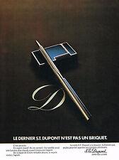 PUBLICITE  1973   DUPONT  stylo & briquet