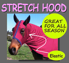 COMFORT~STRETCH~SIZE M~HORSE HOOD.DARK PINK COLOUR