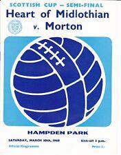 Scottish Cup Semi-Final - Heart of Midlothian v Morton 30 Mar 1968
