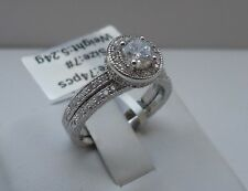 ac00023/ 925 STERLING SILVER LADIES WEDDING BAND & RING/3 cts DIAMOND SZ 6-9