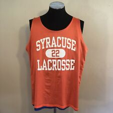 Syracuse Orange Lacrosse Brine Reversible Mesh Tank Top No Size Blue #22 LAX