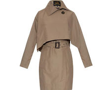 NWT $920 Vivienne Westwood Windsor Mac with Removable Cape (US 4) 40