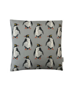Seaside Beach collection Arctic Penguin dove grey ivory Blue cushion covers