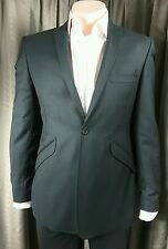 William Hunt Savile Row Slim Fit Grey Suit C36 W33 L30 EXCELLENT CONDITION