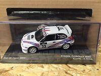 """DIE CAST """" TOYOTA COROLLA WRC TOUR DE CORSE 2000 S.LOEB - D. ELENA """" 1/43"""