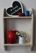 Wall shelf rustic painted wood