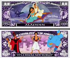 Aladdin Million Dollar Bill Collectible Fake Play Funny Money Novelty Note