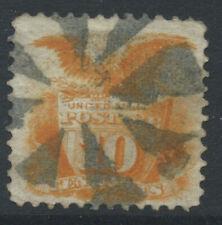 More details for usa 1869 sg118 10c deep orange - grill - heavyish cancel. catalogue £140