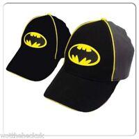 Official DC Comics Batman Logo Baseball Cap Black Yellow Adjustable Strap Boys