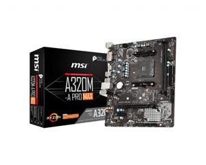 MSI A320M-A Pro Max, AMD A320 Mainboard, Sockel AM4 mATX m.2 NVMe DVI HDMI USB3