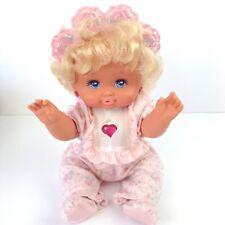 """80s BABY TWINKLES Pj Sparkles sister LIGHT UP doll Mattel 14"""" 1989 Vtg Girl Toy"""