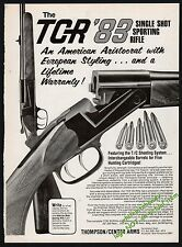 1983 THOMPSON CENTER ARMS TCR Single Shot Sporting Rifle AD Advertising