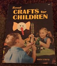 Sunset Crafts For Children Ages 5-12 from 1973