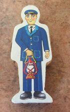 1994 Britt Allcroft Wooden Thomas Train Paper Workman with Lantern! VGUC
