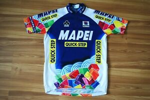 MAGLIA MAPEI QUICK STEP SPORTFUL VINTAGE SHIRT CYCLING CICLISMO JERSEY MAILLOT L