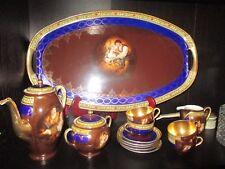 Carlsbad Friedrich Simon Fine Porcelain  Czechoslovakia  Demitasse Tea Set