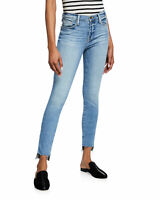 Frame Le High Skinny Jeans with Staggered Raw Hem Westway Blue Jeans Sz 28 $210
