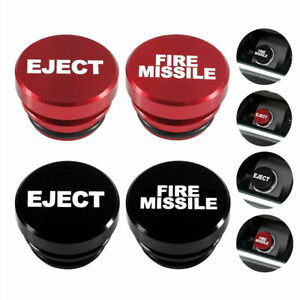 Universal FIRE MISSILE/EJECT Push Button Car Lighter Cover Accessories