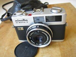 Minolta HI-Matic F 38mm f/2.7 Rokkor Lens Parts or Repair *Untested No Battery*