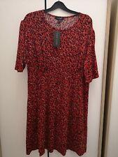 BNWT New Look Red Leopard Dress Size 18