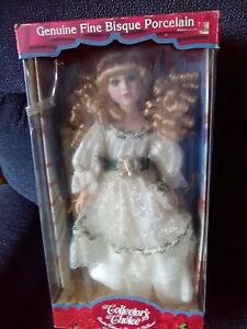 Genuine fine bisque porcelain collector's choice doll 17 inches ** In Box W COA