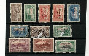 TURKEY 1914 MH Used Overprints (11 Items) ZA 907s