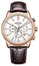 Rotary Mens Monaco Sports Cronógrafo Cuero GS05084/06 Relojes -10%!