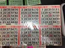 Bingo Cards Paper Lottery Comm stamp - removed from svc 1000 3x2 sheets 180823