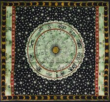 Indian zodiac mandala cotton wall hanging bohemian hippie tapestry bedspread
