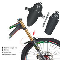 1 Set Cycling MTB Mountain Bicycle Front   Rear Mud Guards Mudguard Fender Black